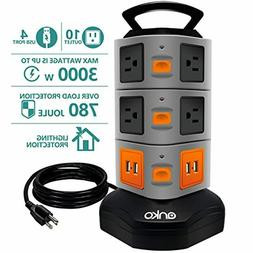 10 outlet power strip 4 usb charging