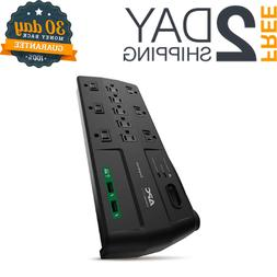 APC 11-Outlet Surge Protector Power Strip with USB Charging