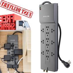 12 Outlet Power Strip Surge Protector 8 Feet Charging Heavy