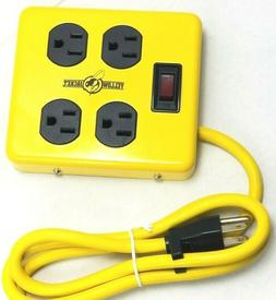 120v Power strip Metal Power box Supply Adapter Block with 4