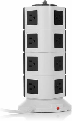 14-Outlet Power Strip with 2.1A 4 USB Charging Ports and 6.5