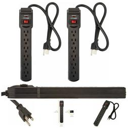 2 pack surge protector power strip 6