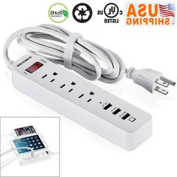 2020 Poweradd 6FT 3 Outlet Power Strip Surge Protector With