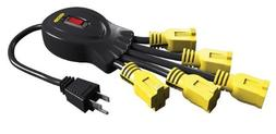 Stanley 31500 Power Squid with 5-Grounded Outlets, Black/Yel