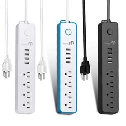 4 Outlet 4USB Port Power Strip Surge Protector 6Ft Extension