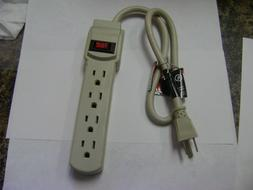 4 OUTLET POWER STRIP WITH SURGE PROTECTION 2 FT 14 GAUGE POW