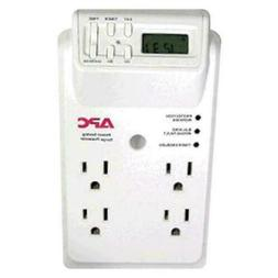 4 - OUTLET SURGE PROTECTOR WALL TAP WITH LCD TIMER