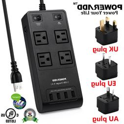 NTONPOWER 4-Outlet Power Strip Surge Protector with 2 USB Po