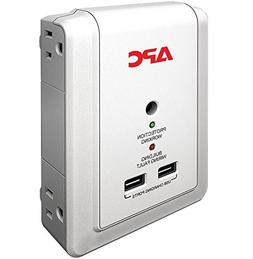 APC 4-Outlet Wall Surge Protector 1080 Joules with USB Charg