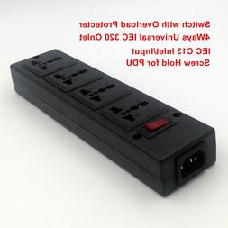 4-Outlet Universal socket with overload protector,<font><b>C