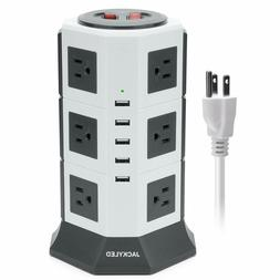 JACKYLED 5 USB12 Outlet Power Strip Tower Charging Station W