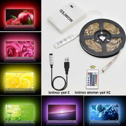 50-200CM USB LED Strip Light TV Back RGB Color Changing Batt