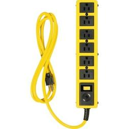 Coleman Cable 5139 Yj 6 Outlet Met Strip 6 ft. Cord