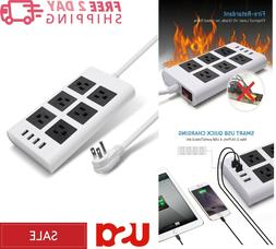 5V 2.4A USB Power Strip-JACKYLED Right Angle Plug 9.5ft Long
