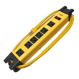 KMC 6 Outlet Heavy Duty Metal Surge Protector Power Strip 6