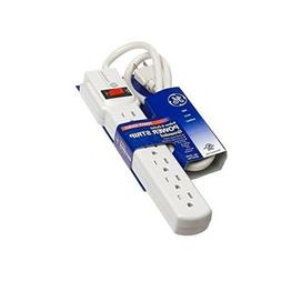 GE 6-Outlet Grounded Power Strip with 3-foot Cord 57244