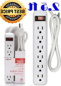 6-Outlet Power Strip Built-in Circuit Breaker Extension Cord