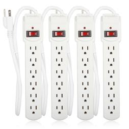 Maxxima 6 Outlet Power Strip Surge Protector 300 Joules
