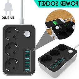 6 USB Ports Socket Charger Extension <font><b>power</b></fon