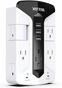 BESTEK 7-Outlet Wall Tap Surge Protector Power Strip with Sw