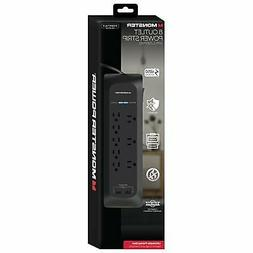 Monster 8-Outlet 4050 Joules Power Strip Surge Protector w/