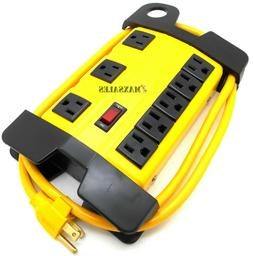 8-Outlet Power Strip Surge Protector w Metal Housing Chargin