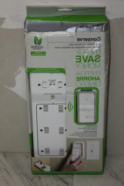 Belkin 8 Outlet Surge Protector Power Strip Conserve Switch