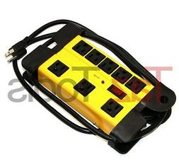 8 Outlet Power Strip Surge Protector w Metal Housing Chargin