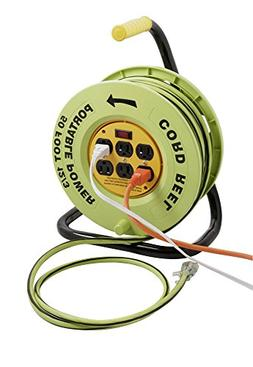 Designers Edge E-238 Power Stations 12/3-Gauge Cord Reel wit