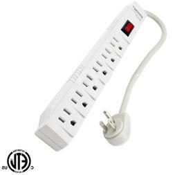 Topzone T-Type Style 06-TZN7896 6 Outlet Power Strip