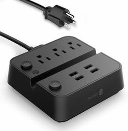 iClever BoostStrip IC-BS02 Power Strip | USB Charger with 4