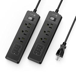 iClever BoostStrip Smart Power Strip | USB Charger with 3 U