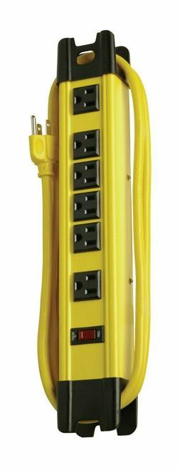 Coleman Cable 04657 6-Outlet Metal Power Strip, Heavy Duty D