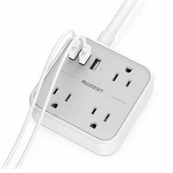 TESSAN Compact Size Multi Plug Extender with 3 Electrical Ou