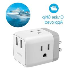 Cruise Adapter Plug Portable Travel Power Strip Socket with