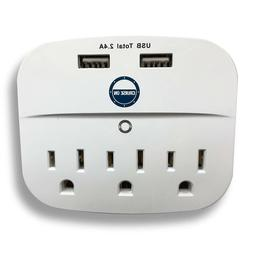 Cruise Power Strip with USB Outlets - Non Surge Protection