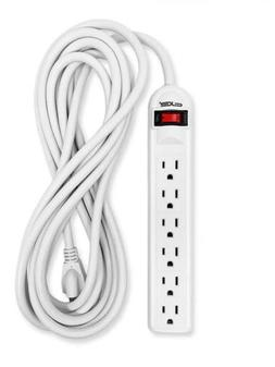 Digital Energy 6-Outlet Surge Protector Power Strip with 25-