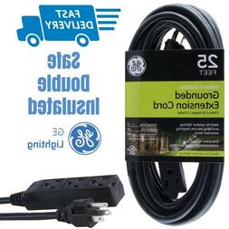 GE 25 ft Extension Cord, Outdoor, Ideal for Outdoor Lighting