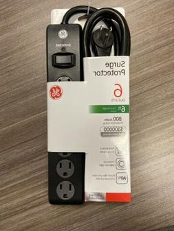 GE 6-Outlet Power Strip Surge Protector 8ft. Extra-Long Cord