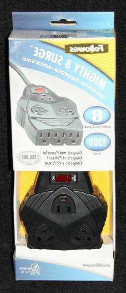 NEW In Box FELLOWES Mighty 8-Outlet Surge Protector, 6ft 990
