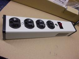 20 Amp 4 Outlet Power Strip with 15' 12AWG cable, Wiremold U