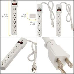 High Quality Power Strip 6-Outlet Surge Protector 2-Pack, 20