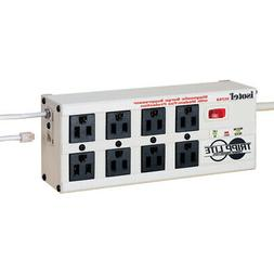 Tripp Lite Isobar Surge Protector Metal RJ11 8 Outlet 12' Co