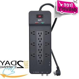 KMC Surge Protector 12 Outlet Power Strip Protection Home Of