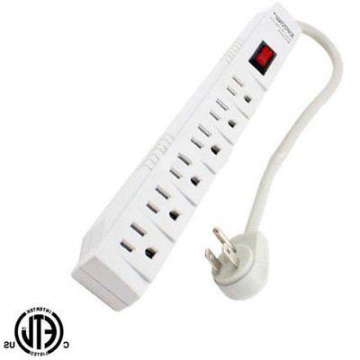 1 ft 6 outlet safety surge protector
