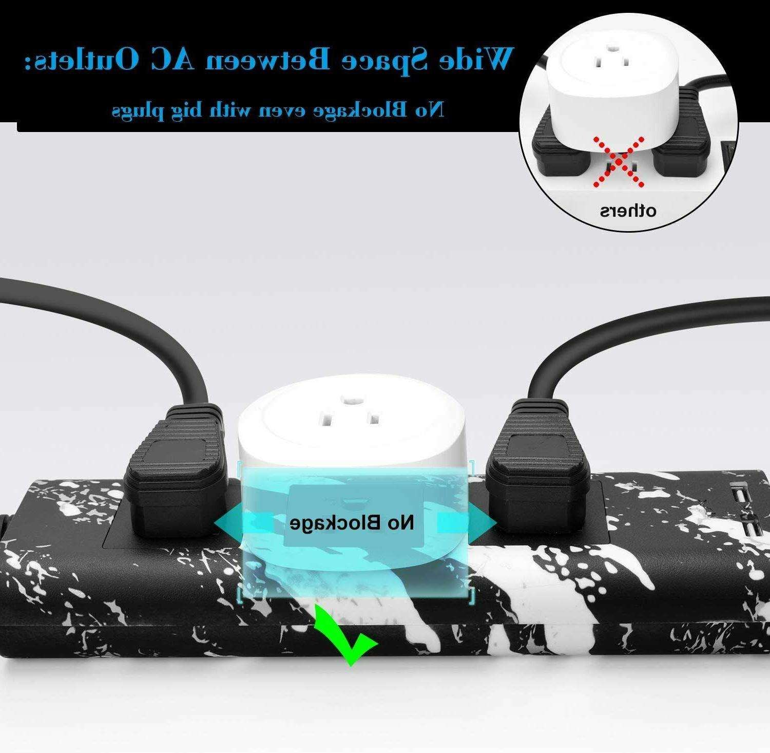 JACKYLED Cord Strip 3 Outlets Electrical