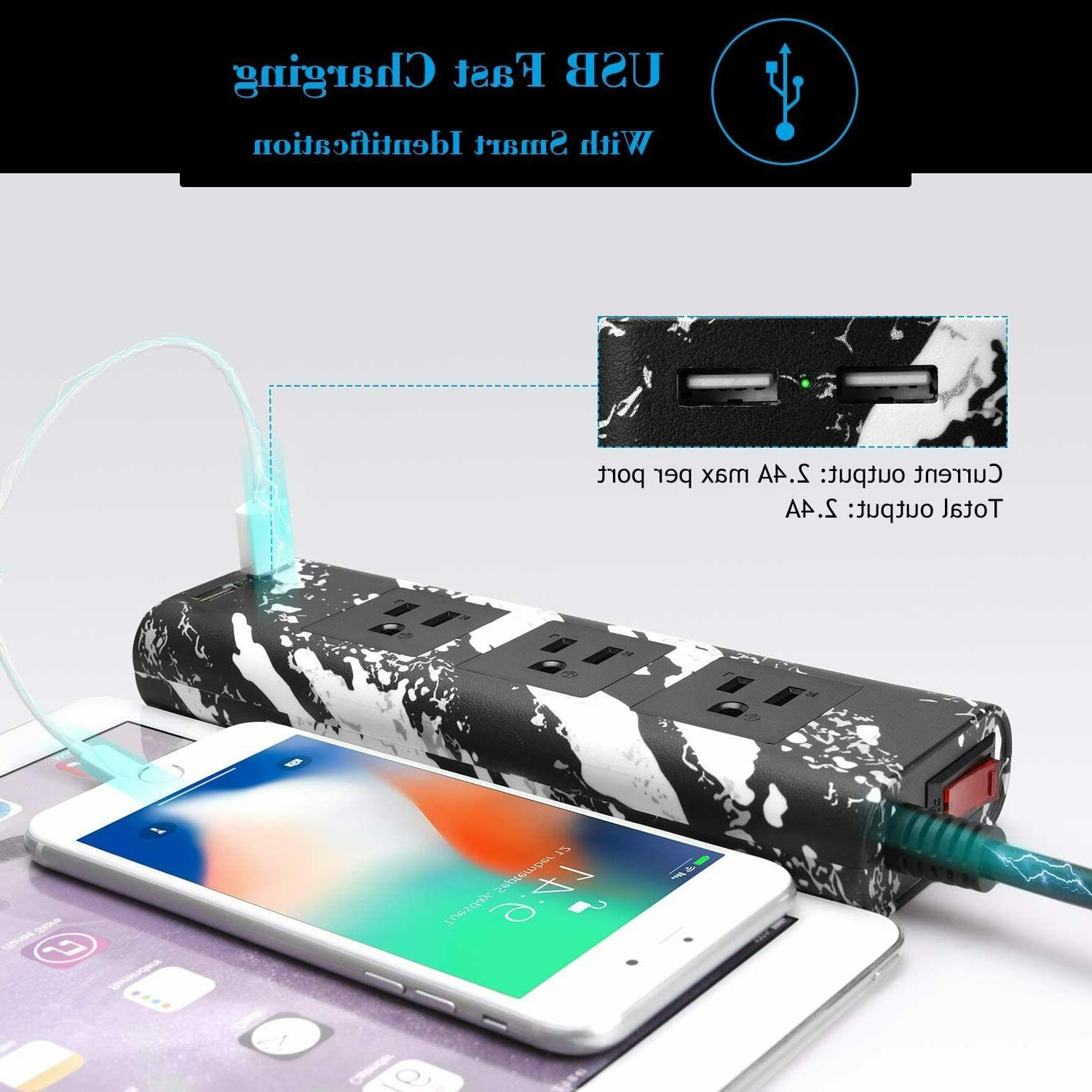JACKYLED 10ft Power Strip Electrical Power Outlet