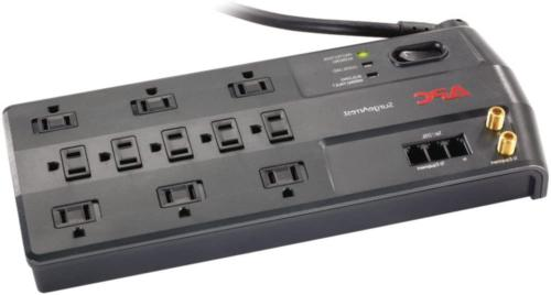 APC 11-Outlet Surge Protector 3020 Joules Phone Network Ethe