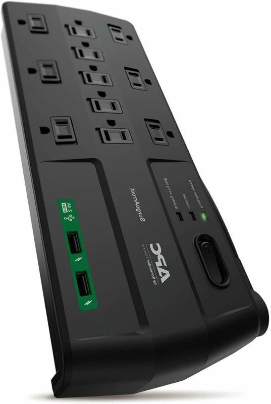 APC 11-Outlet Surge Protector Power Strip with USB