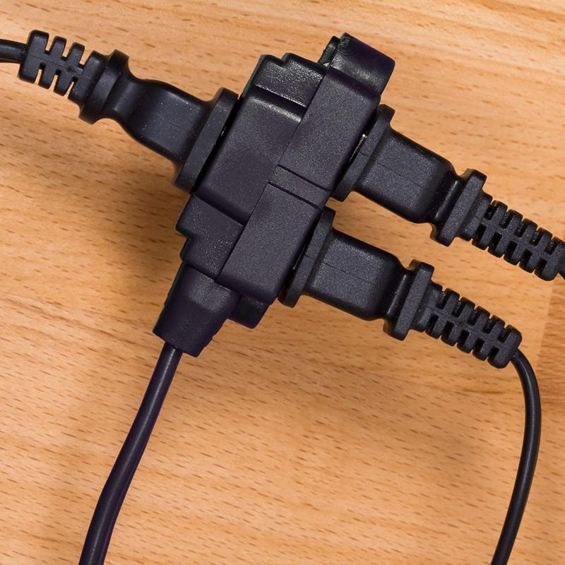 GE 12, 6 Ft Extension Cord, 3 Power 2 Prong, 16 Twist